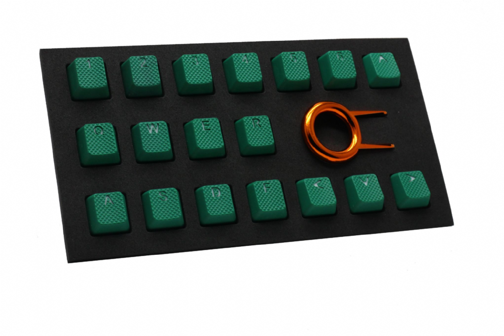 Tai-Hao TPR Rubber Backlit Double Shot 18 Keys - Green